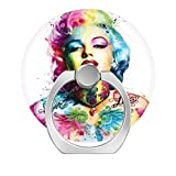 Cell Phone Ring Holder Finger Kickstand,360 Degree Rotation Stand Grip with Car Mount Compatible with All Smartphone - Marilyn Monroe Colorful Diamond Art