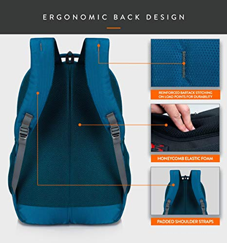 Lunar's Bingo - 48 L Laptop Office/School/Travel/Business Backpack Water Resistant - Fits Up to 15.6 Inch Laptop Notebook with 1 Year Warranty