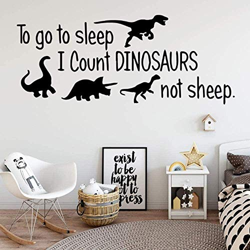 Dinosaur Quotations Wall Stickers Home Decoration Baby Decoration Art Stickers Boy Bedroom Decoration* 30x73cm