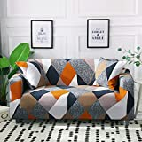 MKQB Funda de sofá elástica elástica, Funda de sofá Modular de Esquina para Sala de Estar, Funda de sofá en Forma de L Antideslizante Envuelto herméticamente NO.10 3seat-L- (190-230cm