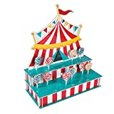 Circus Tent Shaped Lollipop Stand - Foam Base - Holds 48 Suckers - Circus Party Supplies