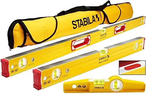 Stabila 96M Magnetic Level Set Kit - 48'/24' Torpedo and Case