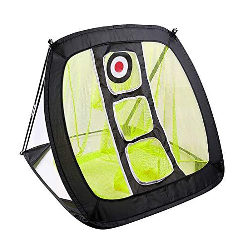 Macium Golf-Übungsnetz Golf Übungsmatte Pop-up Golf Netz Faltbare Chipping Netz für Abschlag Training Indoor-Put-Training, 82 x 72 x 56cm