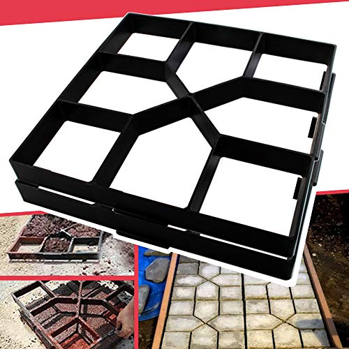 Anothera 2Pack 15.7'x15.7'x1.57' Walk Maker Reusable Concrete Path Maker Molds Pathmate Stone Molding Stepping Stone Paver Lawn Patio Yard Garden DIY Walkway Pavement Paving Moulds (Square)