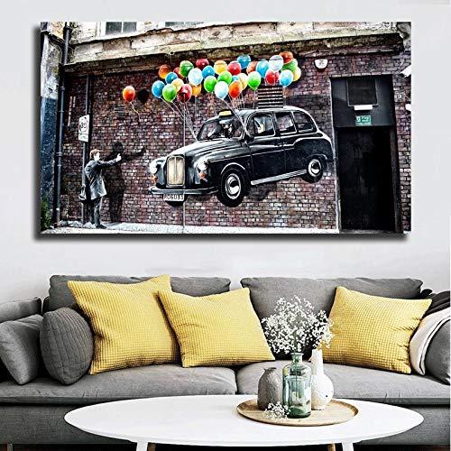 jzxjzx 60x105cm Sin Marco Street Graffiti Wallpaper Lienzo Pintura impresión Dormitorio decoración del hogar Moderno Arte de la Pared Pintura al óleo póster Imagen Obra de Arte HD