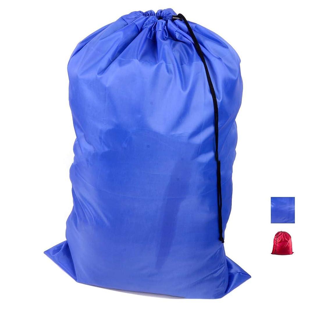 潜む切断するである多機能大型折りたたみ式ナイロンランドリーバッグ汚れた服収納袋2色オプション (青)