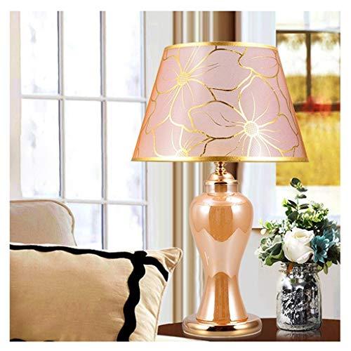 Lfixhssf Nordic bedlamp, warm roze, lampenkap met bloemenpatroon, eenvoudig licht voor slingers, woonkamer, studio, lezen, Desk, lamp, Lfixhssf (kleur: Magnolia)