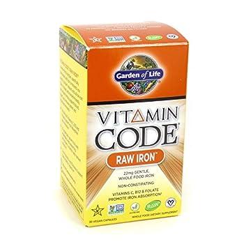 Garden of Life Vitamin Code Raw Iron 30 Capsules  2 Pack