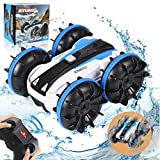 RC Car Amphibious Remote Control Car Boat with 2.4 GHz RC Stunt Car 4WD&Double Sided 360 Rotate Hobby RC Car Birthday Toy for Age 6 7 8+ Girls Boys Teens Aadults