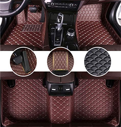Muchkey für A UDI A8L 2011-2017 4seats Fußmatten Wasserdichtes Fussmatten-Set Allwetter Auto Leder Teppich Kaffee