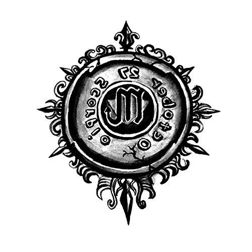 YLGG Autocollants de Tatouage temporaires Apollo Universal Sun God Fashion, adaptés aux Hommes et aux Femmes, imperméables, Amovibles
