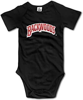 Backwoods Newborn Baby Short Sleeve Jumpsuit Super Soft Onesies for 0-24 Months Baby