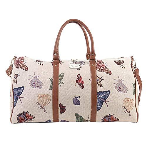 Bolsa de viaje grande de moda Signare para mujer en tela de tapiz bolsa de viaje para el fin de...