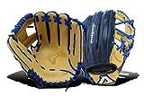Akadema Prosoft Elite Series Baseball Infielders Gloves, Black/Sandstone/Royal, Left Hand