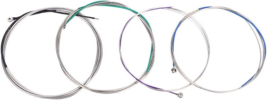 Cello Strings A-D-G-C Cello Steel Wire String for Full Size 4/4 -3/4 Cello Replacement with Colorful Coatings