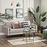 VASAGLE Sofa 3 Sitzer, Couch mit Bezug aus Leinenimitat, 180 x 82 x 83 cm, Polstermöbel für kleine Wohnungen, Gästezimmer, Jugendzimmer, mit Holzgestell, einfacher Aufbau, beige, LCS10BE - 2