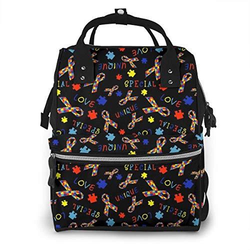 Damen Rucksack mit Reißverschluss, großes Fassungsvermögen, Schwimmwindeln, Avocado-Muster, Pink
