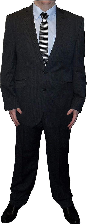 Scott Woolmark Blend 2 Piece Suit in Charcoal Stripe in Size 50 to 60