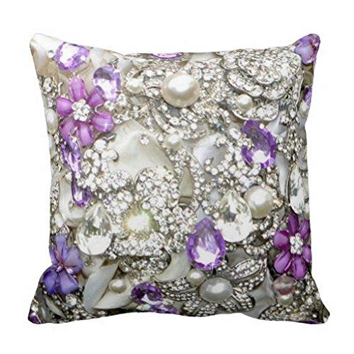 Bling Glam Chic ramo brillantes manta funda de almohada