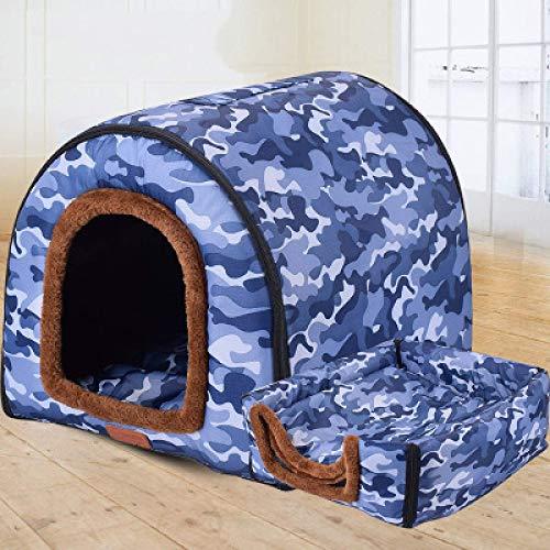 saxz Casa para Mascotas 2 En 1 Y Sof Camas De Igl Antideslizantes para Perros Y Gatos Tamao 3(Color:7,Size:Pequeo)