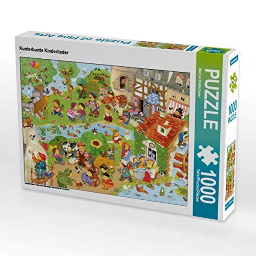 CALVENDO Puzzle Kunterbunte Kinderlieder 1000 Teile Lege-Größe 64 x 48 cm Foto-Puzzle Bild von Marion Krätschmer