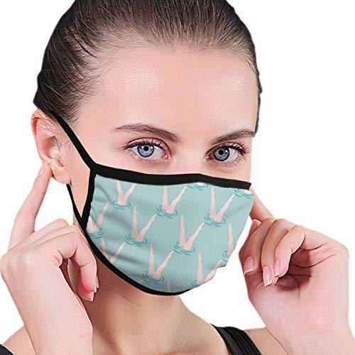JINZUO Paño facial para hombres y mujeres, compatible con natación sincronizada sin costuras, cubierta de boca ajustable, lavable, pasamontañas, calentador de cuello reutilizable