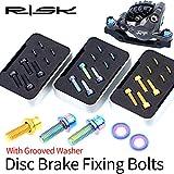 BIKERISK 4 Piezas de aleación de Titanio de Pinza de Freno de Disco M6 × 18 mm Perno de fijación con Ranuras Lavadora Montaña Bicicleta de Carretera Juego de Tornillos SLX XT XTR,Vistoso