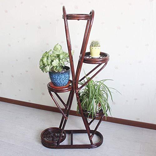 Vaas Graf Rotan Bloem Pot Plant Plant Plant Plant Multi-layer Bloem Pot Bloem Pot Multi-layer Plank Natuurbescherming Milieu Bruin Grote Indoor Woonkamer Slaapkamer 55 * 92cm voor bloemen