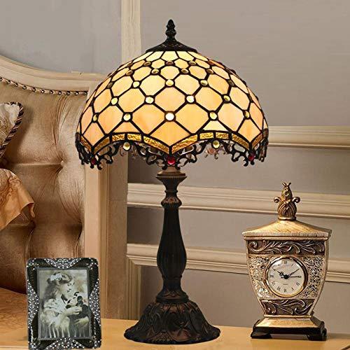 Tiffany Lampe Tischlampe Einfache Schlafzimmer Nachttischlampe Retro Creative E27 Schreibtischlampe