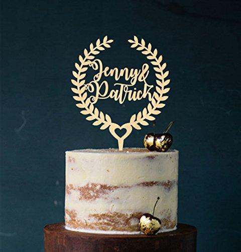 Cake Topper, Tortenstecker, Tortefigur Acryl, Tortenständer - Farbwahl - Wunschname - Etagere Hochzeit Hochzeitstorte
