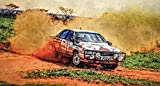Kunst Druck Bild Audi 200 Quattro Turbo Rally Staubfahne