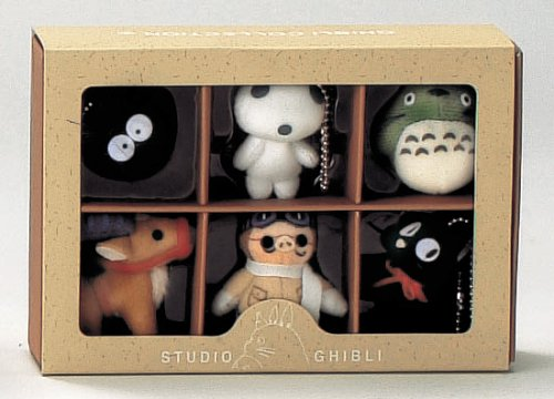bigstar Studio Ghibli Complete Box 6 Figure Mascots With Key Ball Chain Ver.2