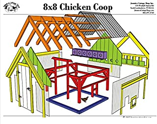 Step-By-Step DIY PLANS - Timber Frame Post and Beam Coop Plans - 8x8 Chicken Coop with Nesting Boxes - Step-By-Step DIY Plans