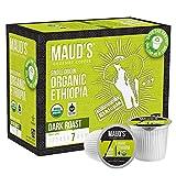 Maud's Organic Ethiopian Coffee (Dark Roast Coffee), 24ct. Solar Energy Produced Recyclable Single Serve Fair Trade Single Origin Organic Ethiopian Coffee Pods - 100% Arabica Coffee, KCup Compatible