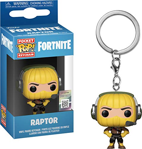 LAST LEVEL- Pocket Pop Keychain: Fortnite: Raptor Llavero, Multicolor