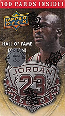 Michael Jordan Hall of Fame Factory Sealed Box Set-100 Cards including Awesome 1986 Fleer Rookie Reprint Card! Box is Limited Edition and Numbered! Contains 100 Michael Jordan Cards in MINT Condition Celebrating his HOF Career!