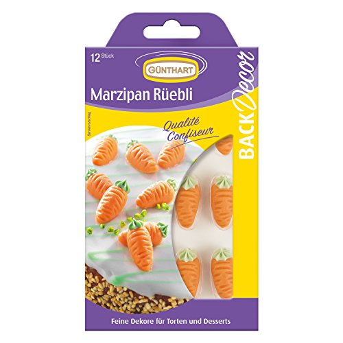 BackDecor 12 Marzipan Rübli | Möhren | Karotten | aus Marzipan