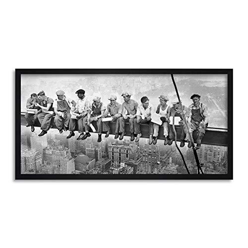 FINE ART PRINTS Lunch ATOP A Skyscraper New York 1932 Iconic Photo Gerahmter Kunstdruck 63,5 x 30,5 cm