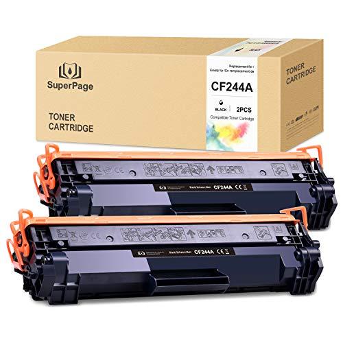 Superpage CF244A 44A Toner Kompatibel für HP 44A CF244A für HP Laserjet Pro M15a M15w M16 M17a M17w MFP M28a MFP M28w MFP 29 MFP M30a MFP M30w Drucker (2 Schwarz)