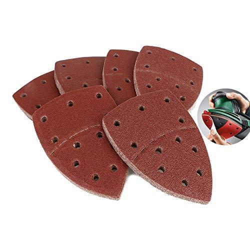 UIOXAIE Cinturón de arena 20 hojas de lijado para ratón, almohadillas de lijadora de gancho y bucle, 11 agujeros, granos de papel de lija 40/60/80/120/180/240 / Fit, 180
