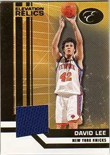 2007-08 Bowman Elevation Relics #DL David Lee Game-Worn Jersey Card Serial #106/179 - New York Knicks