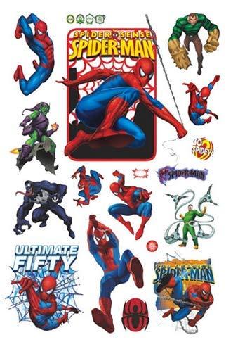 Spiderman Superhéros personnage Sticker mural dessin animé Anime chambre denfant Livraison gratuite explosive chambre à coucher étanche Autocollant en d145