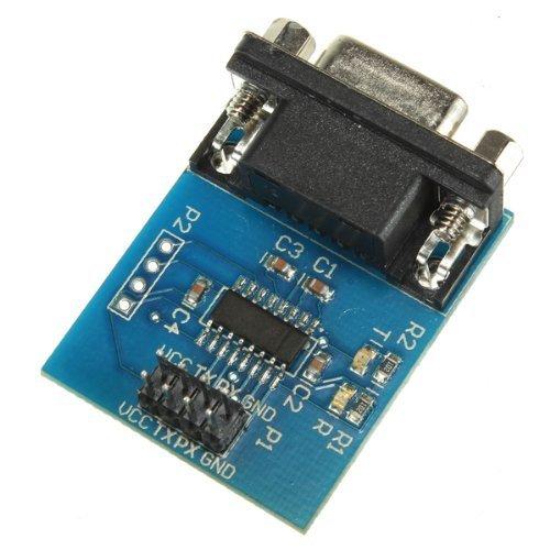 DollaTek MAX3232 RS232 Serieller Anschluss zum TTL Konverter Modul DB9 Stecker W / 4 Sprungkabel