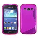 ebestStar - Cover Compatibile con Samsung Ace 3 Galaxy GT-S7270, S7272, S7275 Custodia Protezione S-Line Design Silicone Gel TPU Morbida e Sottile, Viola [Apparecchio: 121.2 x 62.7 x 9.8mm, 4.0'']