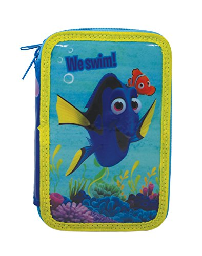 Estuche con 3 Cremalleras a la búsqueda de Dory – Nemo – con Accesorios Escolares