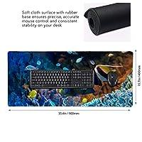 マリンワールド 熱帯魚 マウスパッド ゲーミングマウスパット デスクマット キーボードパッド 滑り止め 高級感 耐久性が良い デスクマットメ キーボード パッド おしゃれ ゲーム用(90cm*40cm)