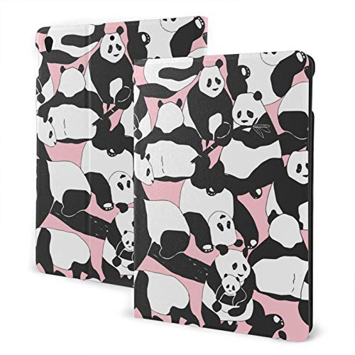 Compatible with Ipad 7th 10.2 Ipad Case Apple Generation Cute Pandas Bear Screen Protector Mini Case 2020 Anti-Slip Full Protection Standing Cover Pu Leather 360 Degree Rotating Auto Wake/Sleep