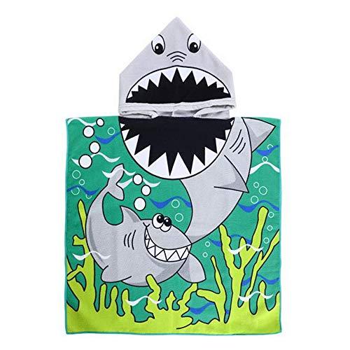 Gobesty Poncho de baño para niños, toalla para playa, natación, baño con capucha, toalla de microfibra con dibujos animados, albornoz de secado rápido