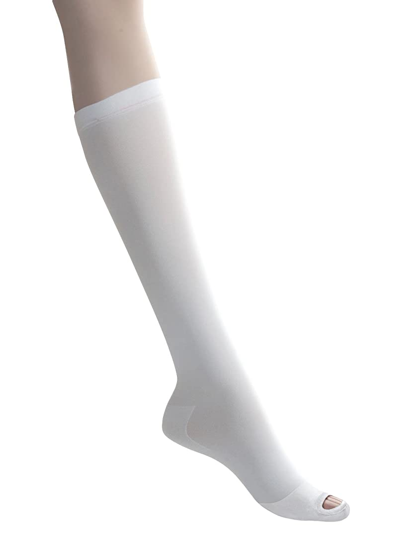 クランシー十代の若者たち仕立て屋Medline MDS160648 EMS Latex Free Knee-Length Anti-Embolism Stocking, Medium Long, White (Pack of 12) by Medline