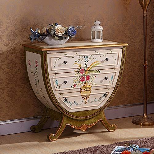 Zhengowen Commode Vintage Peint Porche Antique Cabinet de côté Style européen Locker Corridor Cabinet Retro Industrial Enfilade (Couleur : Marron, Size : 92x41x83cm)